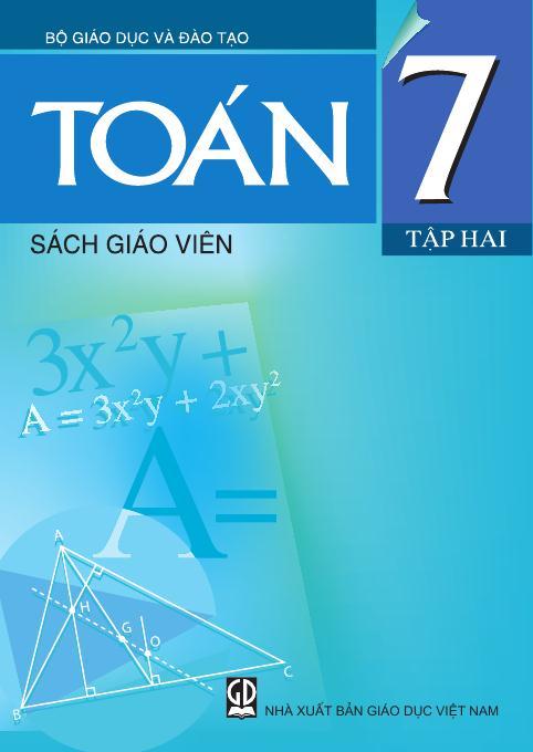 Toán7, tập 2 - Sách Giáo Viên