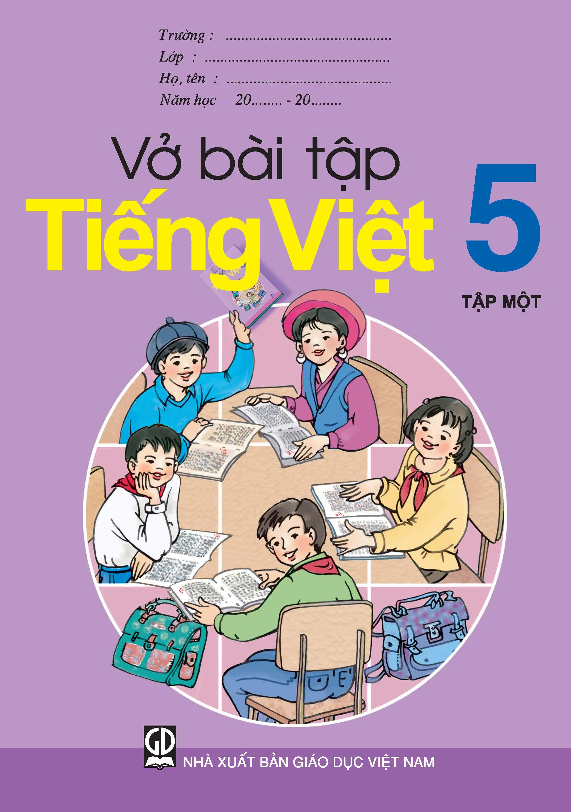 Vở bài tập Tiếng Việt 5, tập 1